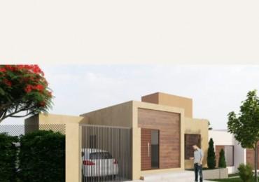 Casa en construccion en el barrio residencial Los Lapachos